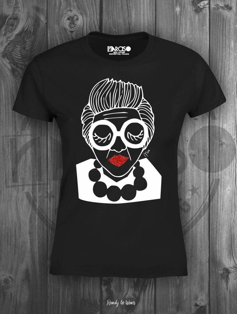T-shirt in puro cotone manica corta slim nera Narciso.