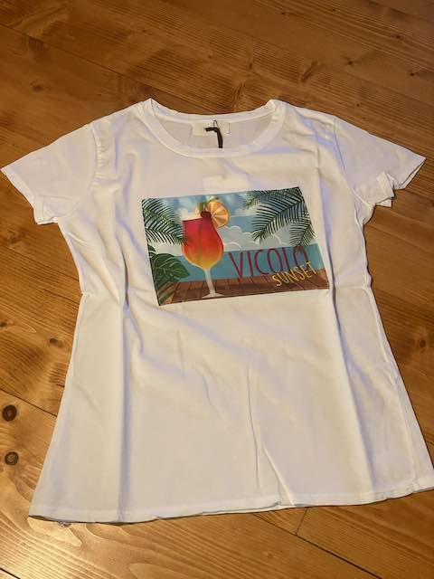 Tshirt Vicolo stampa Cocktail Sunset