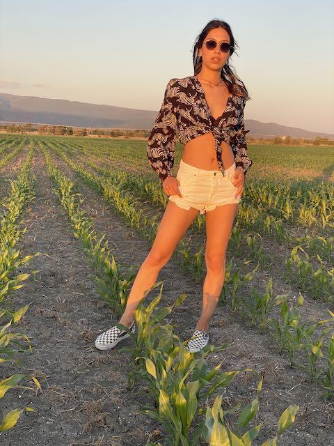 Shorts in jeans strappati Vicolo