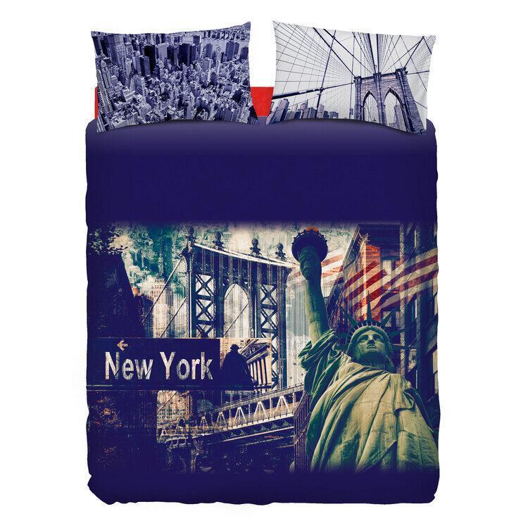 Completo Copripiumino Bassetti Stars Stripes Copripiumone New York