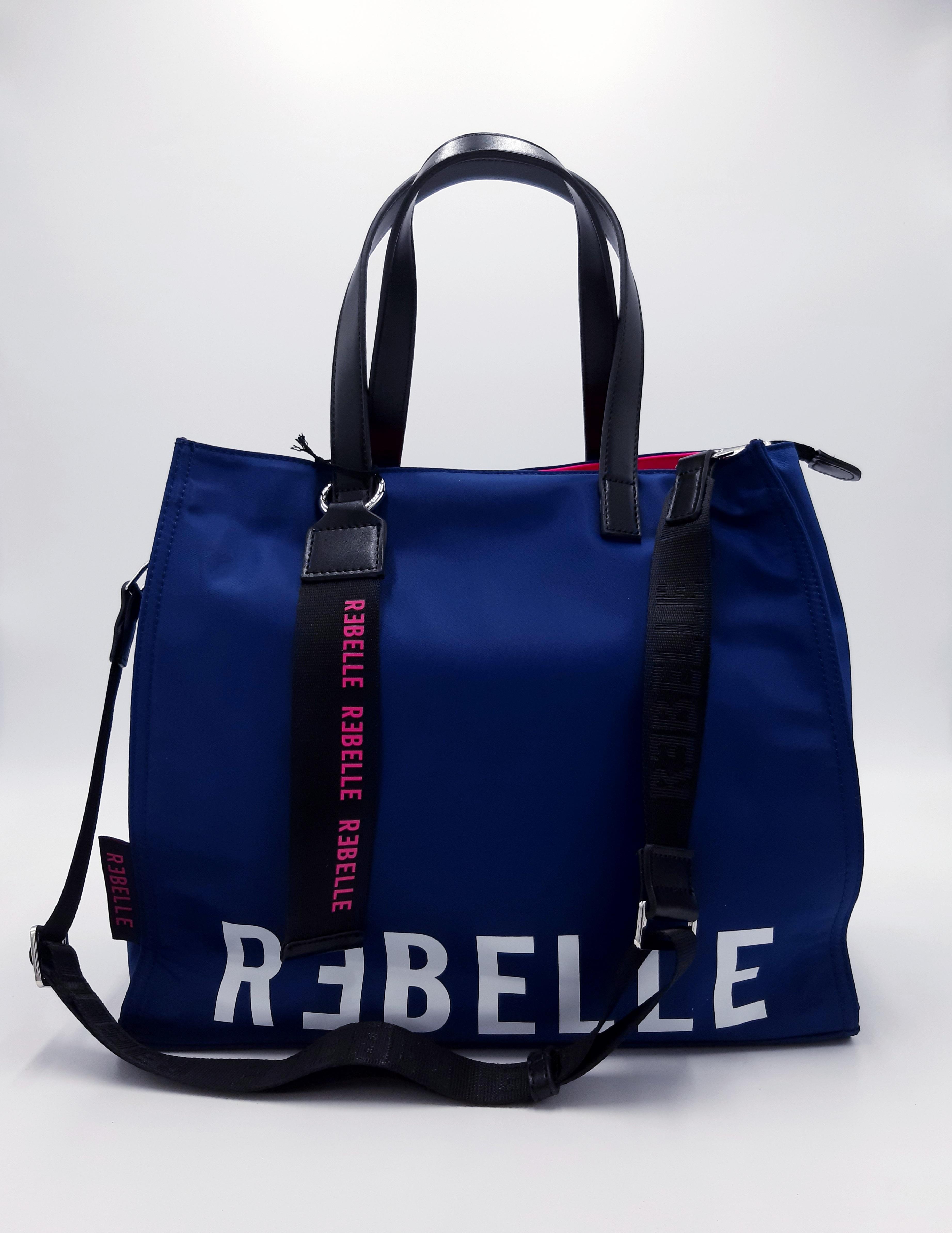 Shopping in tessuto tecnico bluette Rebelle