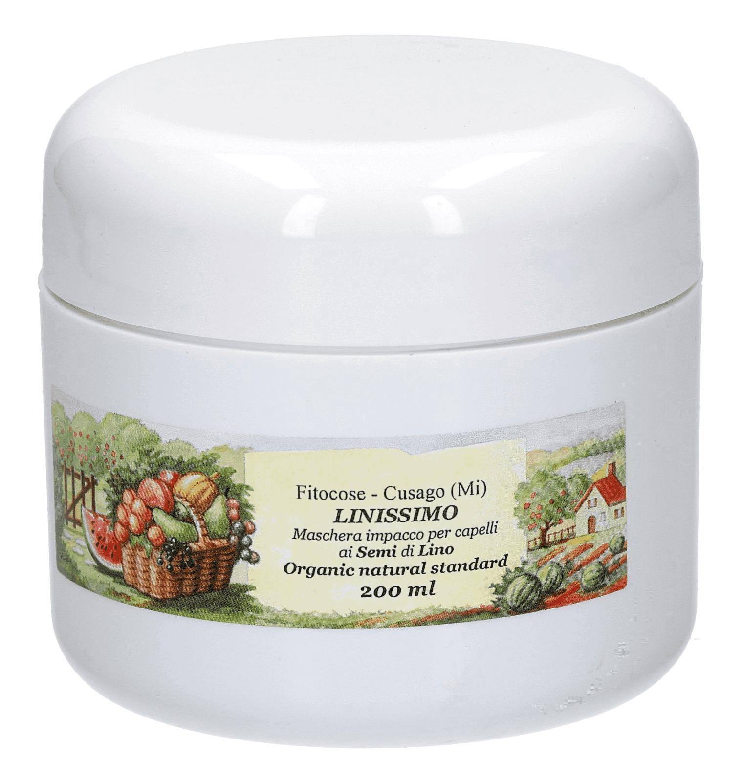 Nourishing flaxseed hair pack with softening action
