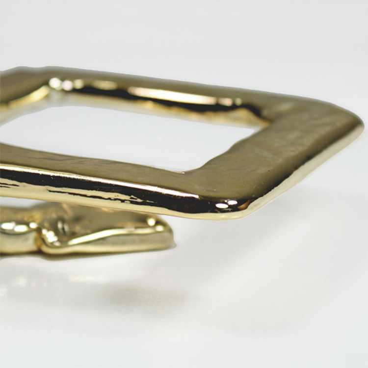 Anello quadro in vetro 14x14 cm color oro metallizzato