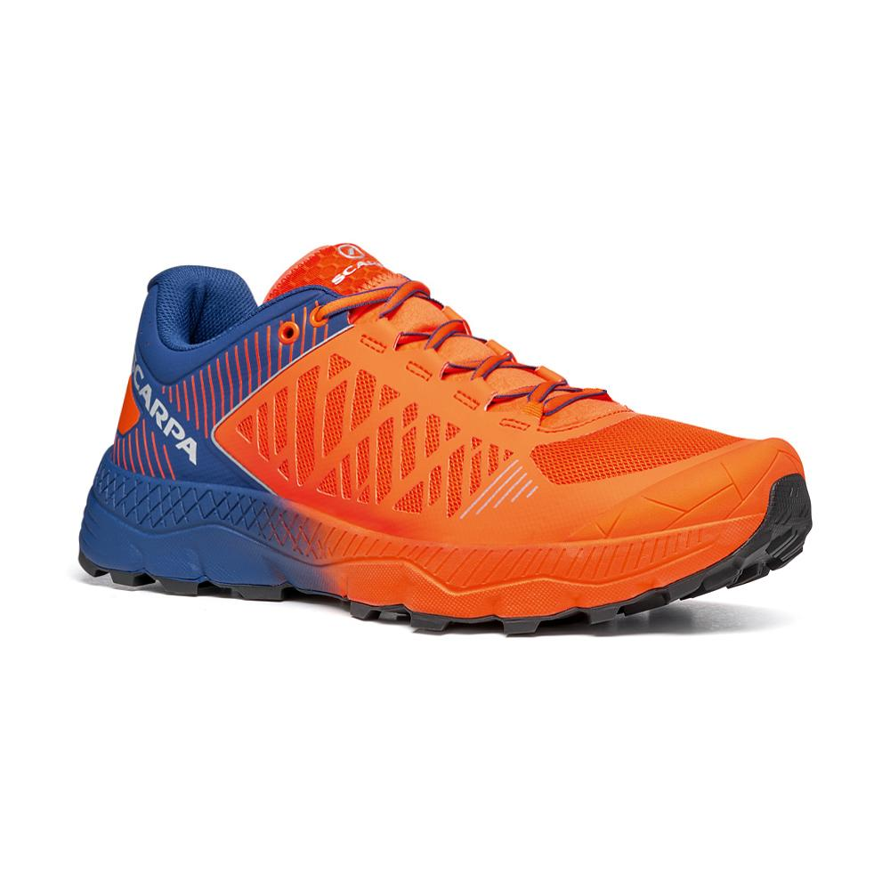 SPIN ULTRA      -   Trail Running per lunghe distanze   -   Orange Fluo-Galaxy Blue