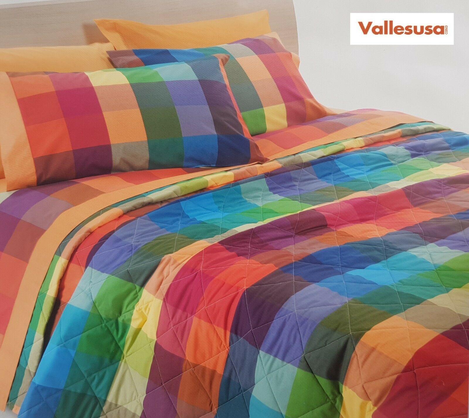 VALLESUSA. Quilt Trapuntino WILSON 13856, da 100 gr/m2. Matrimoniale, 2 piazze.