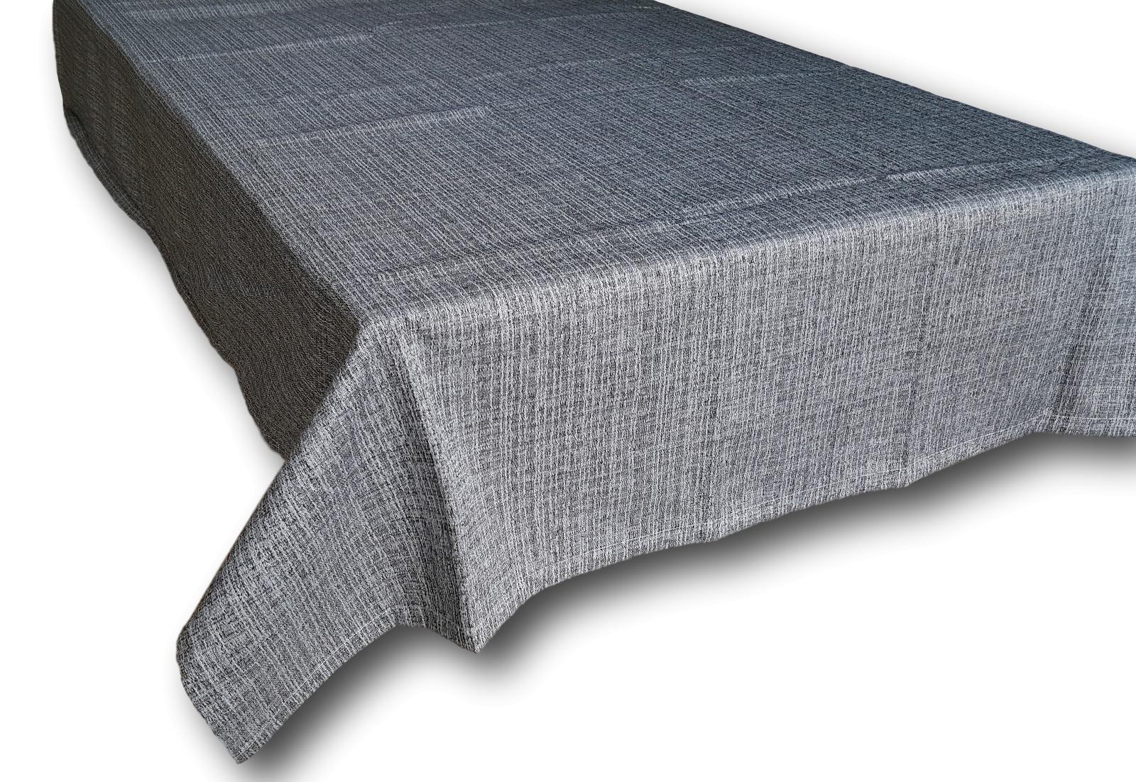Tovaglia da tavola quadrata cm. 145x145 da 4 posti in 100% Cotone. Grigio.