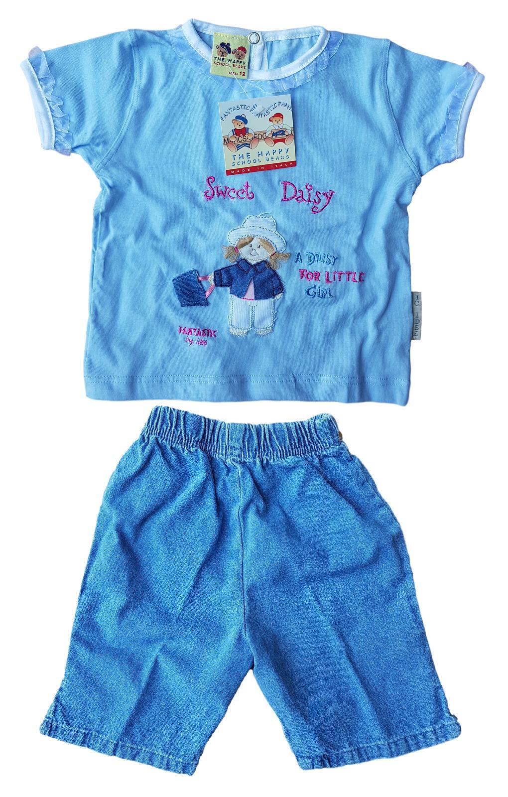 Completino corto Bimba Maglietta corta + Jeans Pinocchietto FANTASTIC 21974