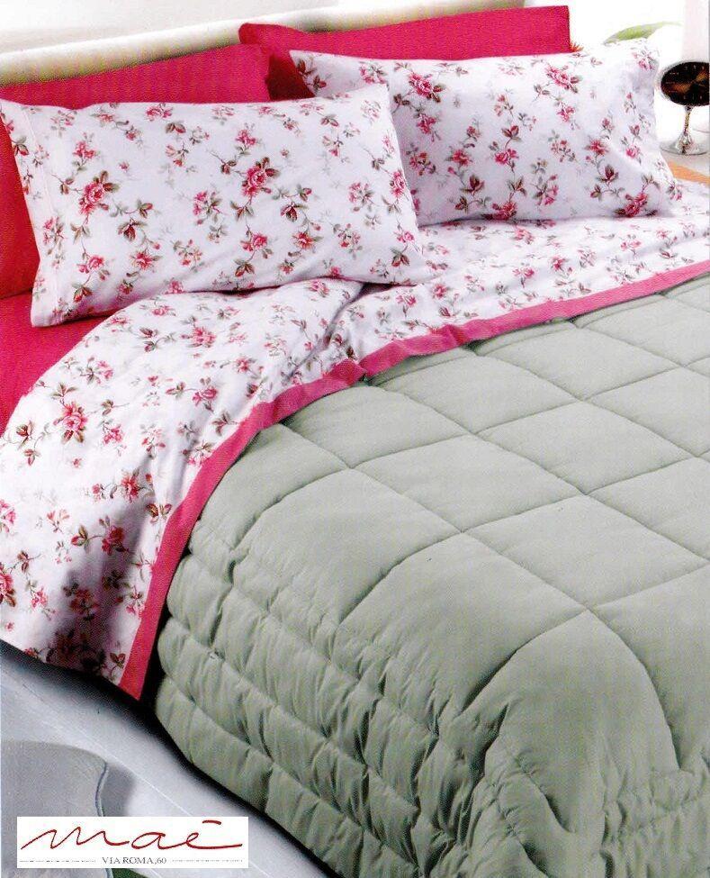 Completo letto, lenzuola in 100% Caldo Cotone MAYLIA MAE. Matrimoniale, 2 Piazze
