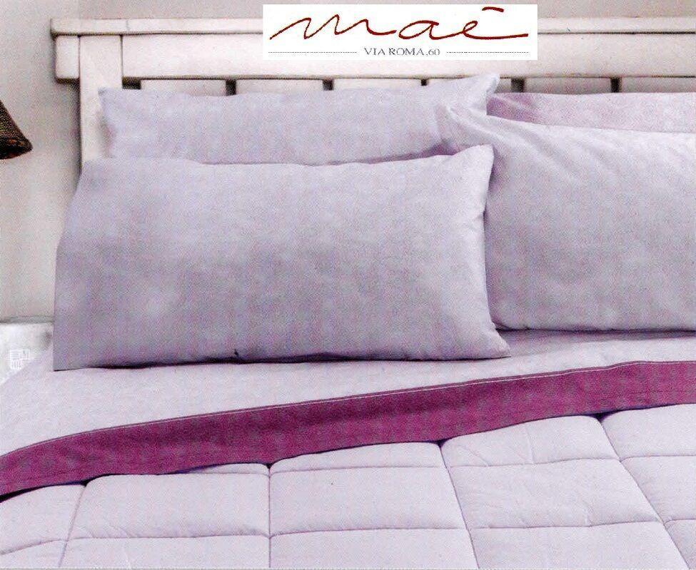 Completo letto lenzuola, 100% Caldo Cotone. INFINITY, MAE Matrimoniale, 2 Piazze