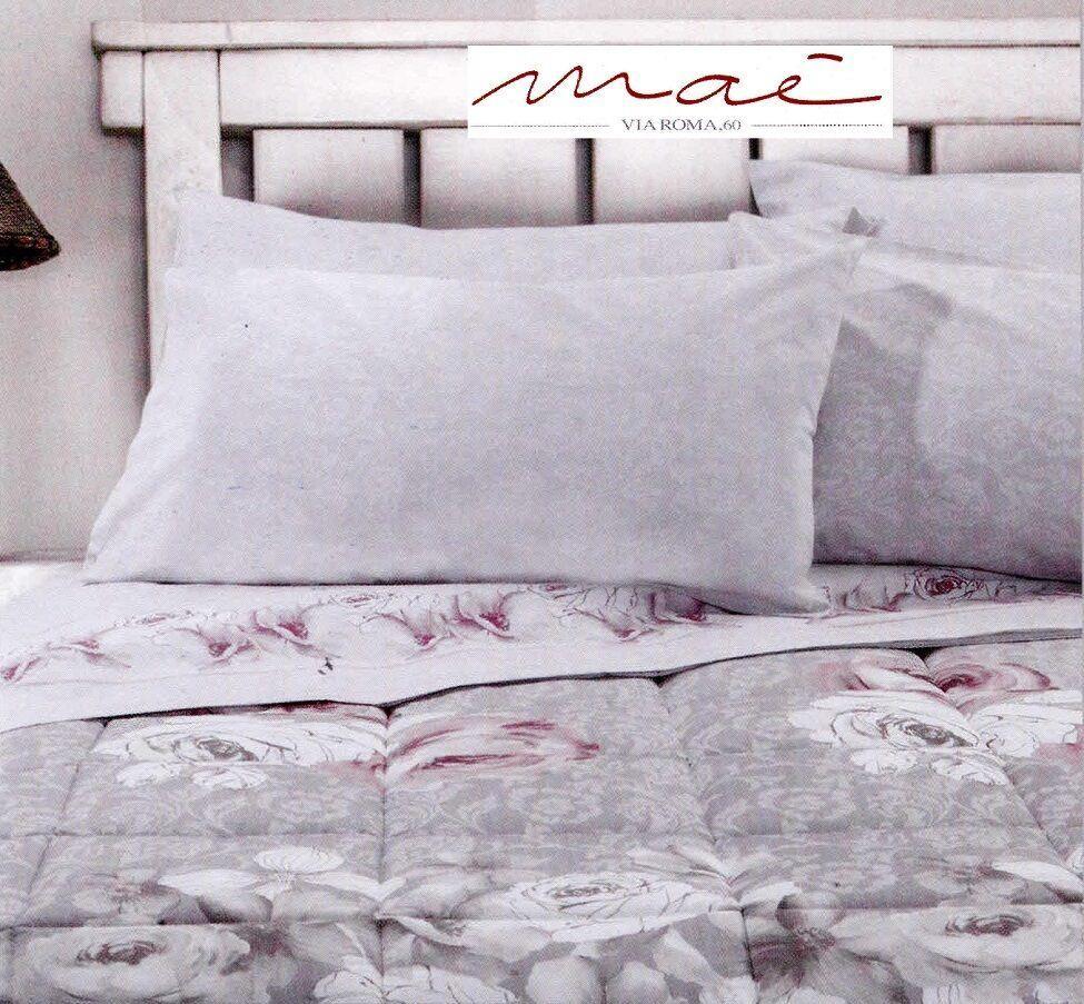 Completo letto lenzuola, 100% Caldo Cotone. JOIE, MAE' Matrimoniale, 2 Piazze.