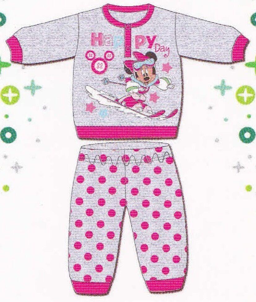 Pigiama Bimba Maniche lunghe Caldo cotone INTERLOCK DISNEY baby, MINNIE WD100508