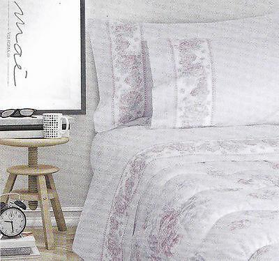 Completo letto, lenzuola calda Flanella MAE' DESERT ROSE Matrimoniale, 2 Piazze.