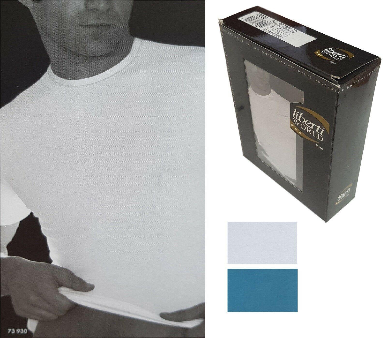LIBERTI. Maglietta intima 73930 T-shirt Uomo manica corta, girocollo Microcotone