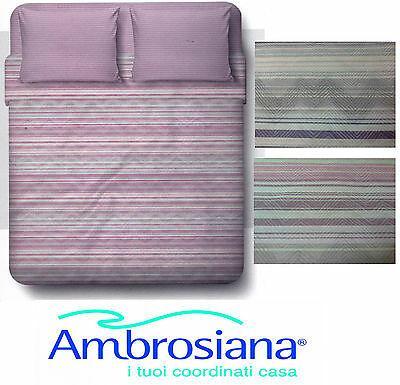 Completo letto, Lenzuola, 100% Cotone AMBROSIANA - 7717. Matrimoniale - 2 piazze