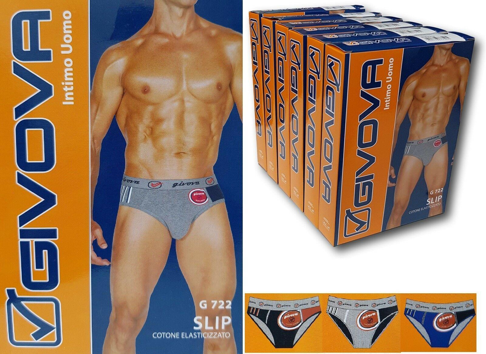 GIVOVA. 6 Slip uomo, con elastico esterno 95% Cotone - 5% Elastan Underwear G722
