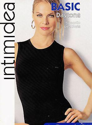 INTIMIDEA. T-Shirt Donna - Maglietta intima. Girocollo, Smanicata. Microfibra.