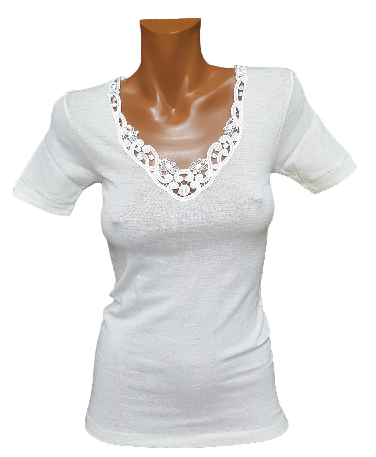 T-Shirt donna, maglietta a mezza manica Misto Lana MANUFAT Linea Verde 244