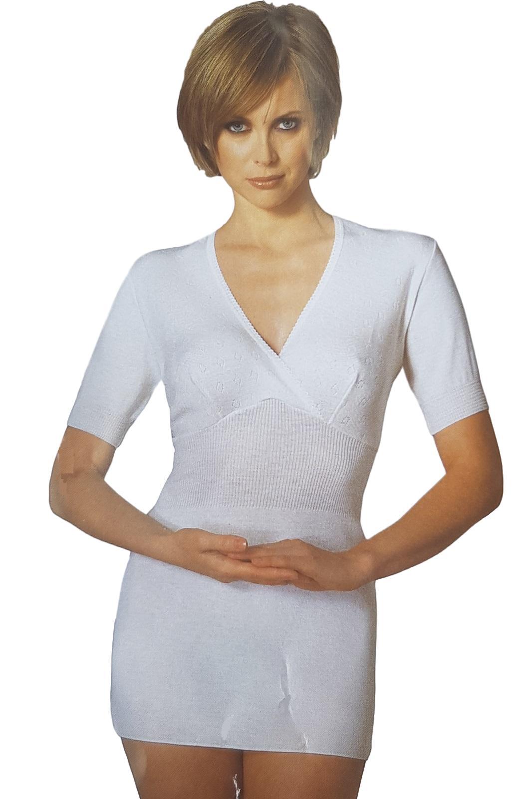 Camiciola donna mezza manica calda Lana con coppe PRODOTTO SANITARIO MANUFAT 116