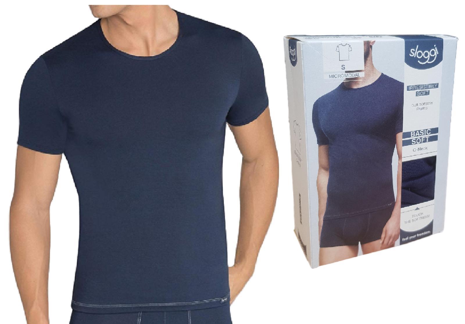 T-Shirt uomo maglietta manica corta girocollo Micromodal BASIC SOFT ONECK SLOGGI