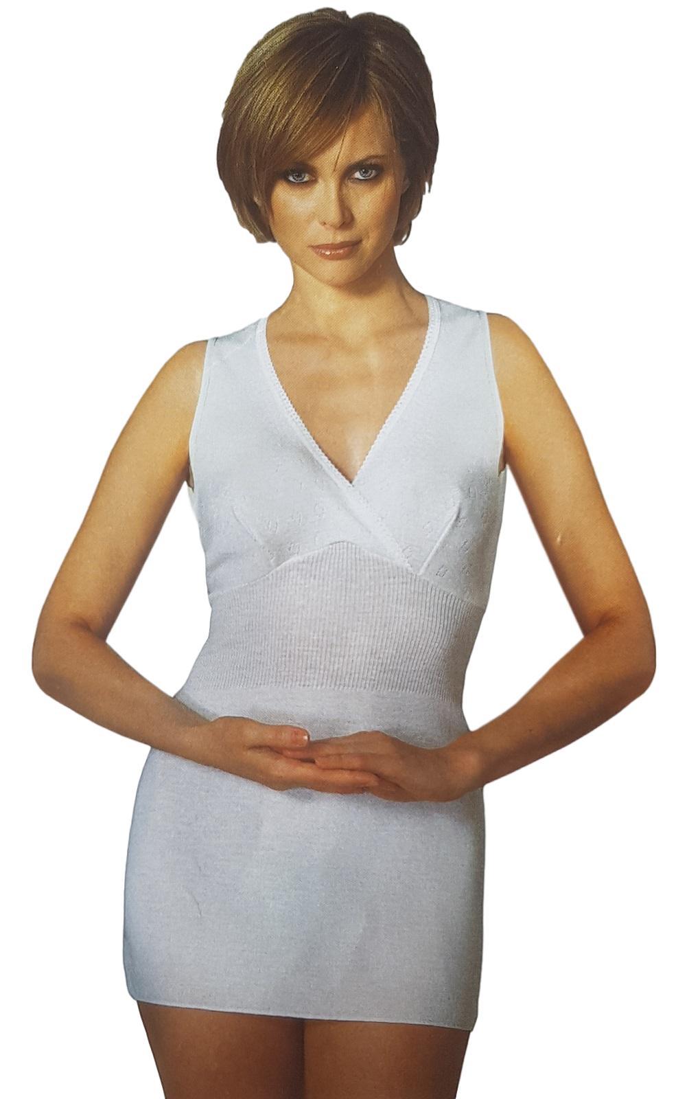 Camiciola donna spalla larga con coppe Pura Lana PRODOTTO SANITARIO MANUFAT 116