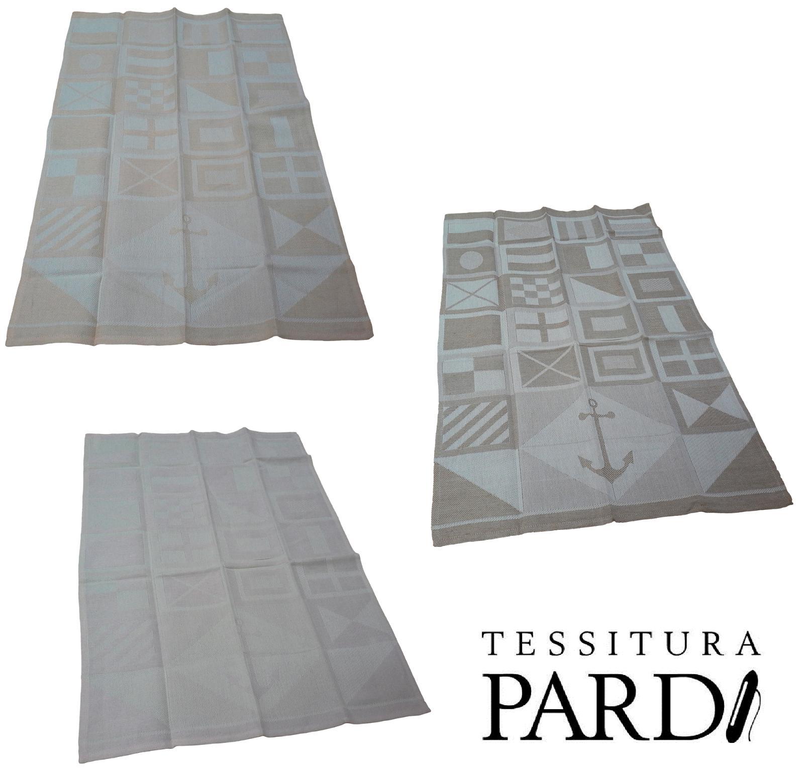Strofinacci - Canovacci con disegno. PANGEA. Misto Lino. Tessitura PARDI. 83x55