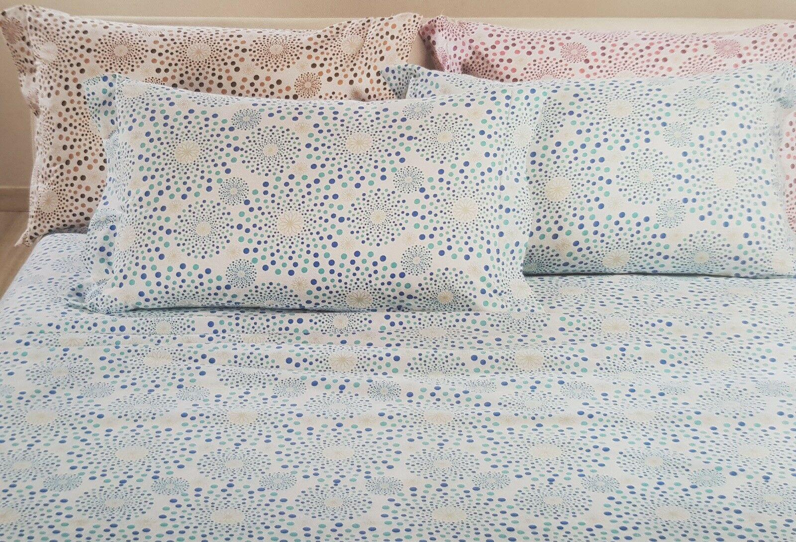 Completo letto, lenzuola in Caldo Cotone. CALEFFI - SOLE. Matrimoniale, 2 piazze