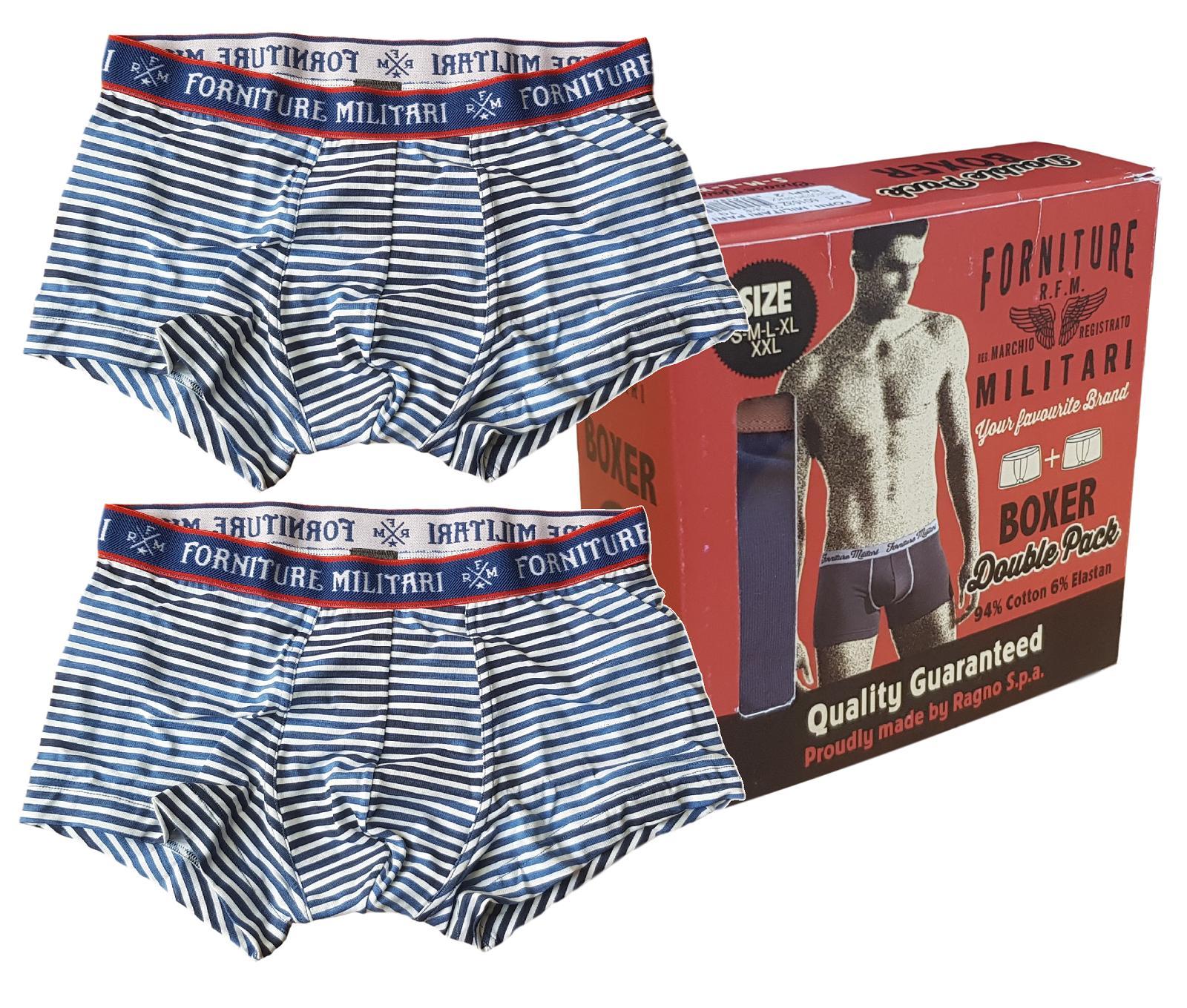 Boxer Uomo 2 pezzi cotone. FORNITURE MILITARI by Ragno 60214Z Intimo Double Pack