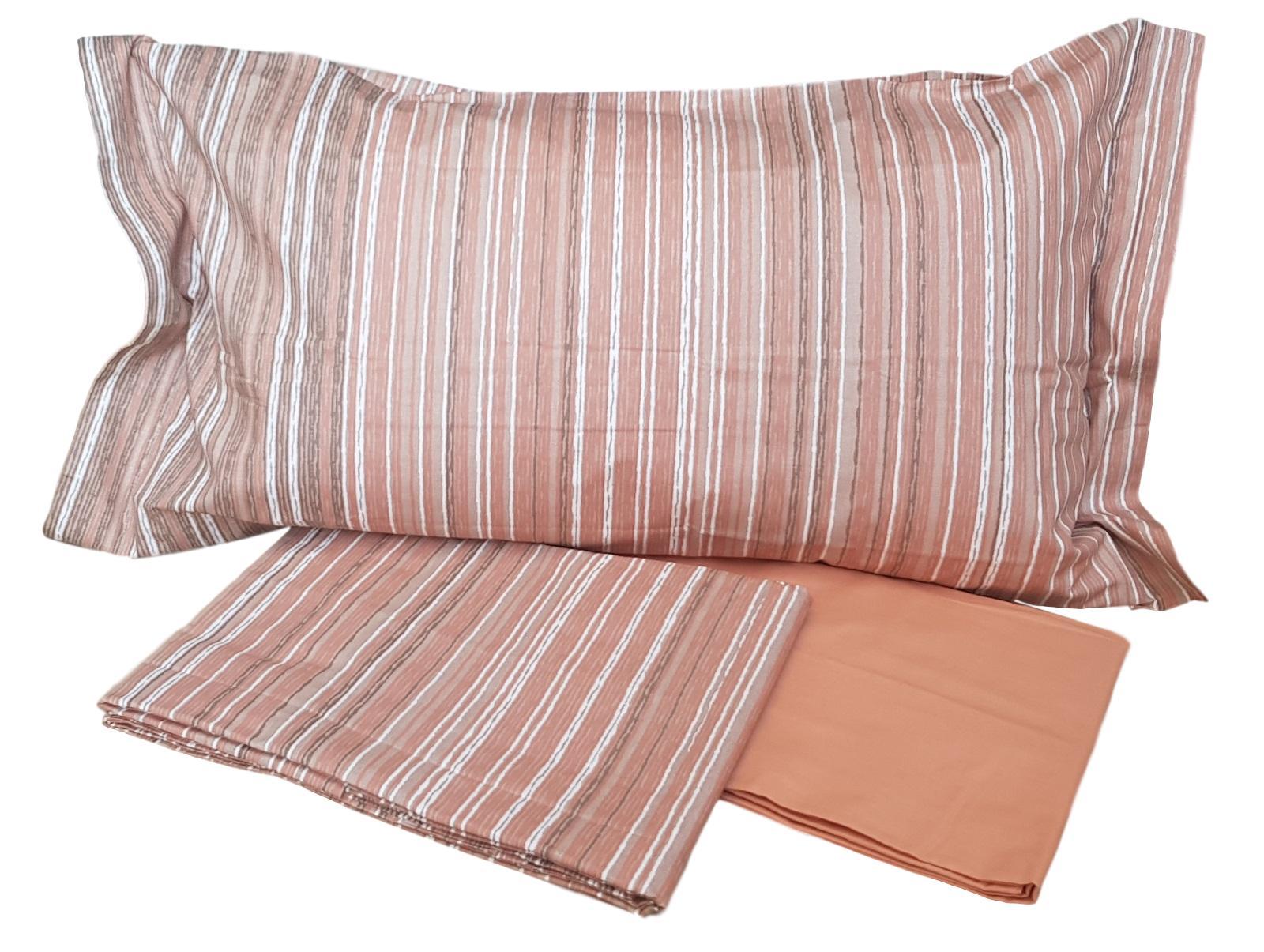 Completo lenzuola, letto, CALEFFI. Cotone 100%. RIGHE. Matrimoniale, 2 piazze.