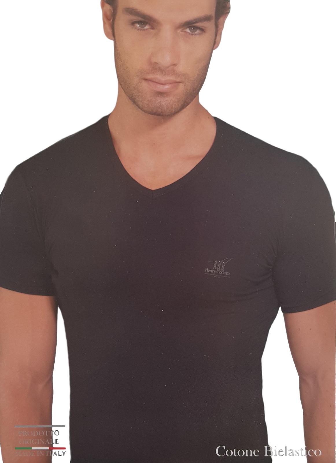 T-Shirt 2 Pezzi uomo in cotone bielastico maglietta corta HENRY COTTON'S HC/3011