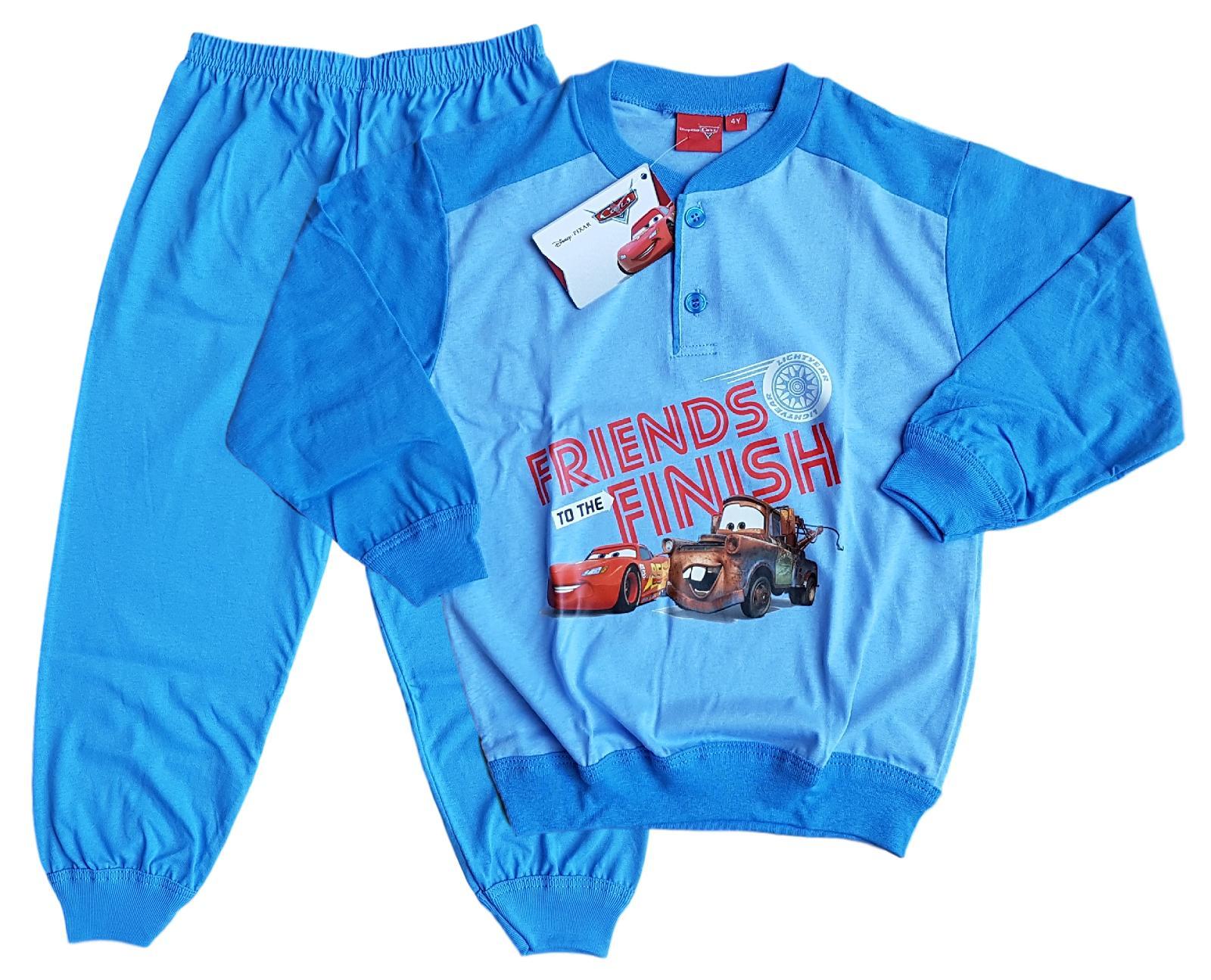 Pigiama lungo Bambino in Cotone Jersey Disney CARS EWDB290 Bimbo mod. Serafino