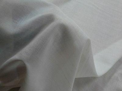 Tenda a metro, Misto Lino non rifinite. Tessuto Tendaggi Altezza 66 cm. Naturale