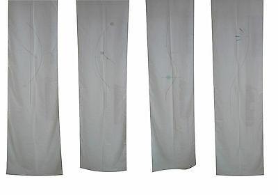 Tende a Pannelli in Misto Lino non rifinite. Tessuto Tendaggi. 66 x 340 cm.