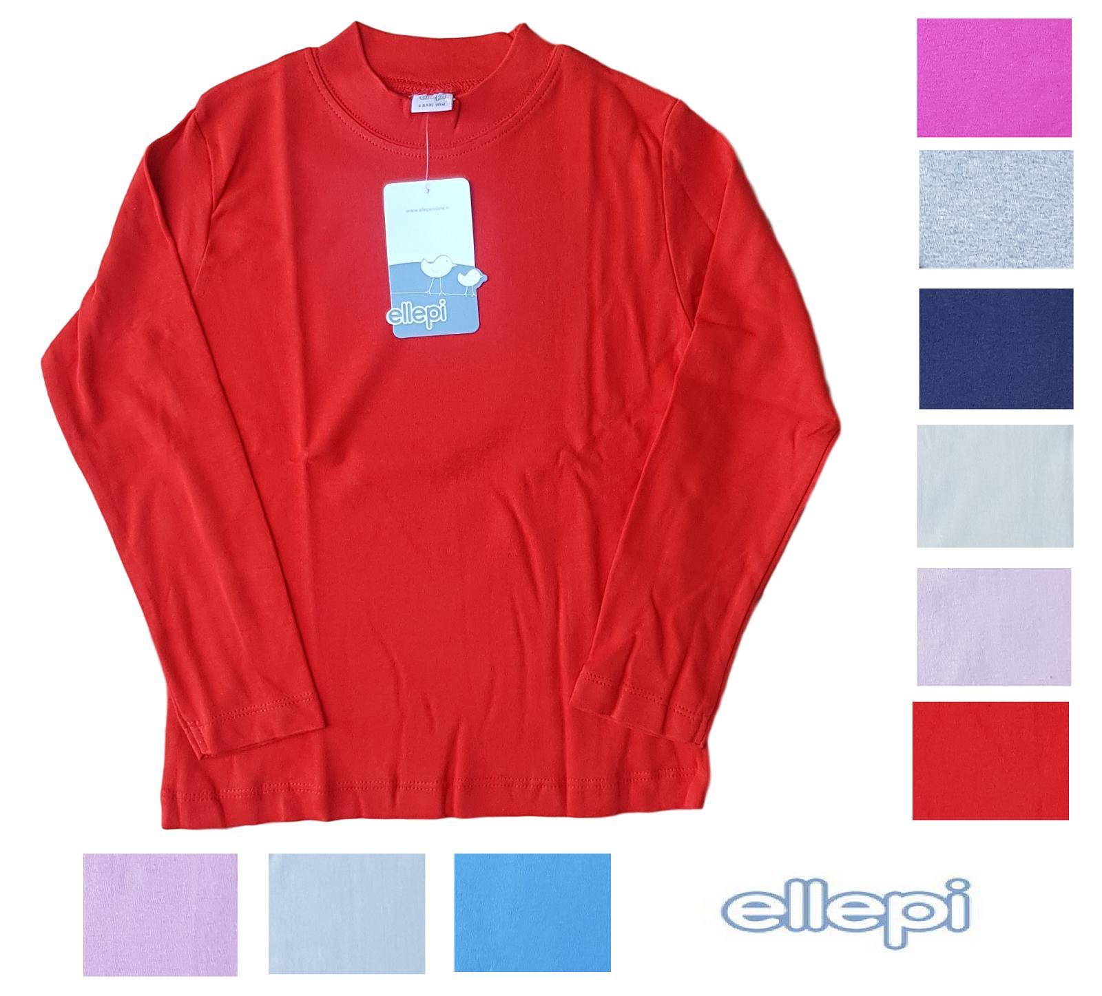 ELLEPI BASIC. Lupetto - T-shirt bambini a mezzo collo CE7596, 100% caldo Cotone.