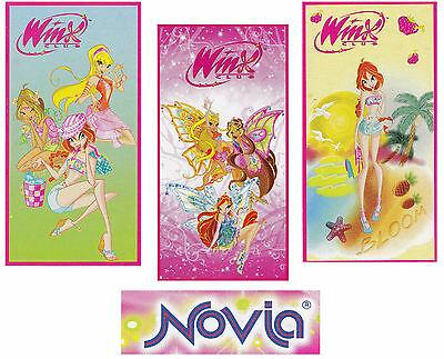 NOVIA - WINX. Telo - asciugamano mare. Bambina, spugna. 76 x 152. 3 Fantasie.