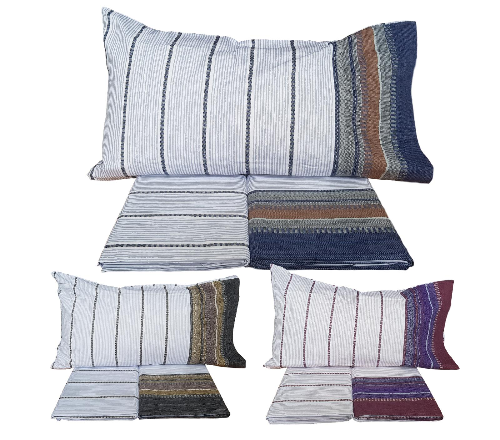 MAE' BANNER. Lenzuola completo set letto 100% Cotone 150/180 fili Made in Italy