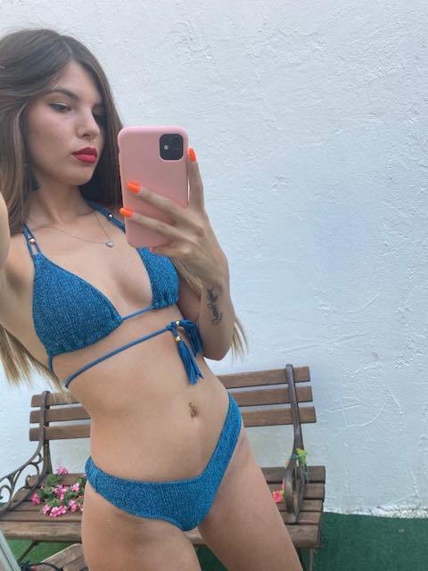Bikini Triangolo Goffrato Lurex Cotazur Taglia L