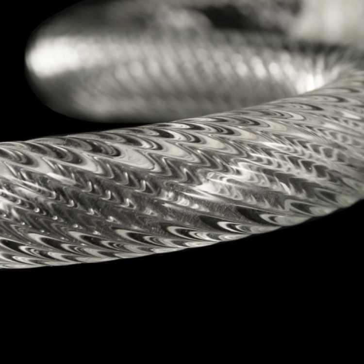 Braccio 15 cm ricambio lampadario murano in su cristallo trasparente