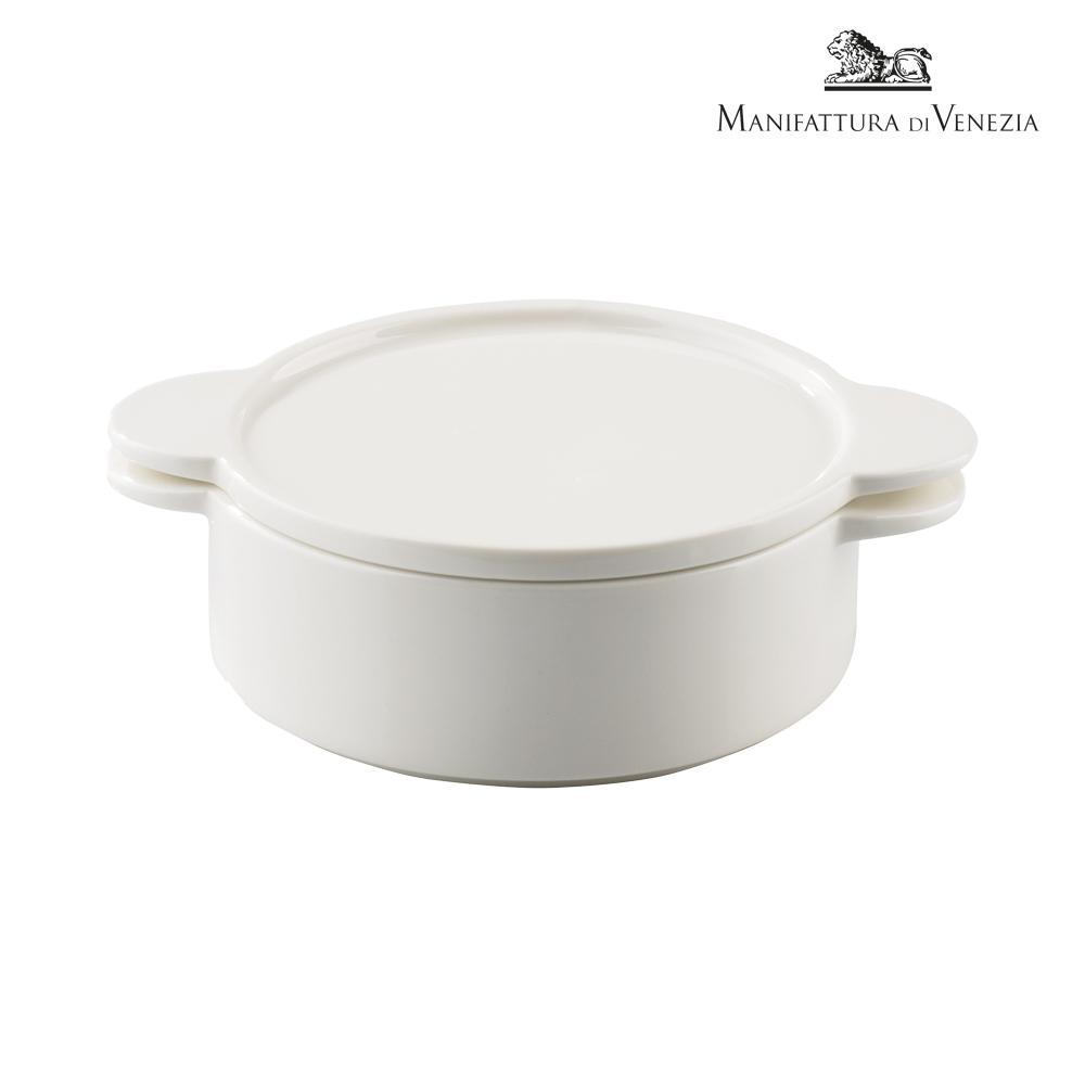 Pirofila con coperchio rotonda bianca cm 15 | PYRO SURPRISE