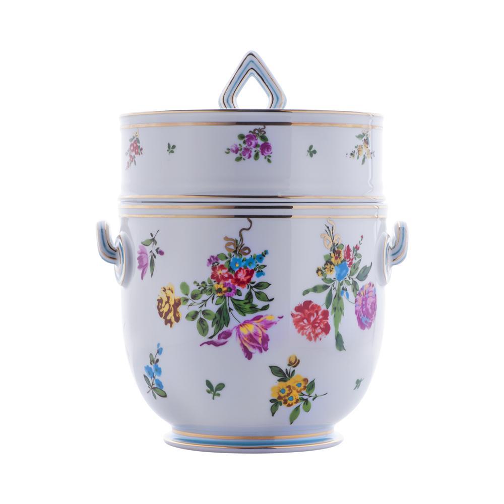 Rinfrescatoio vaso da giacio | Decoro floreale