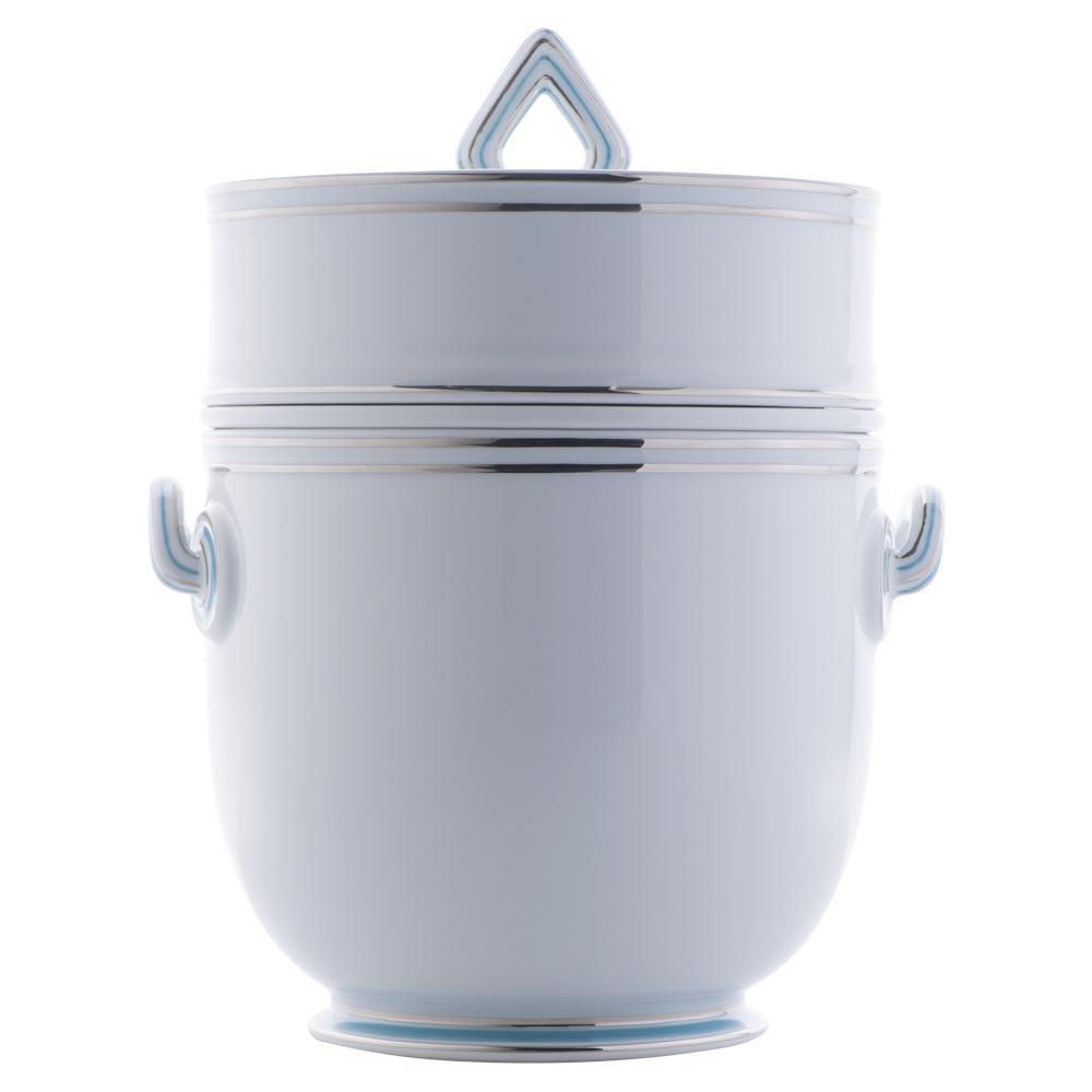Rinfrescatoio vaso da giacio con anima | Fili platino e azzurro