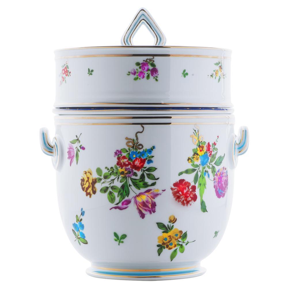 Rinfrescatoio vaso da giacio con anima | Decoro floreale