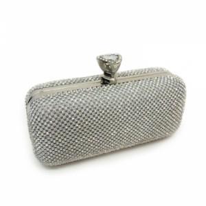 Silver clutch bag | Elegant evening bags