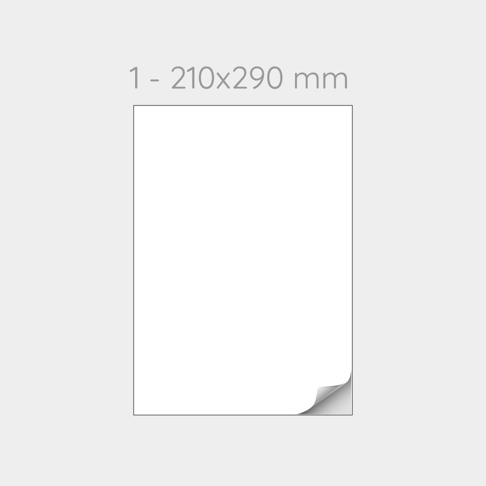 FOGLIO A4 PER STAMPANTI LASER CON MEZZO TAGLIO SUL RETRO - 1000 FOGLI
