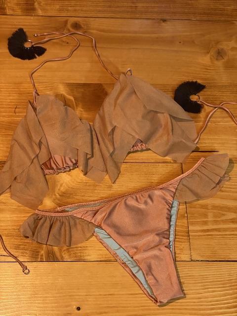 Bikini triangolo  e slip brasiliano volant Quiet Effek Taglia M