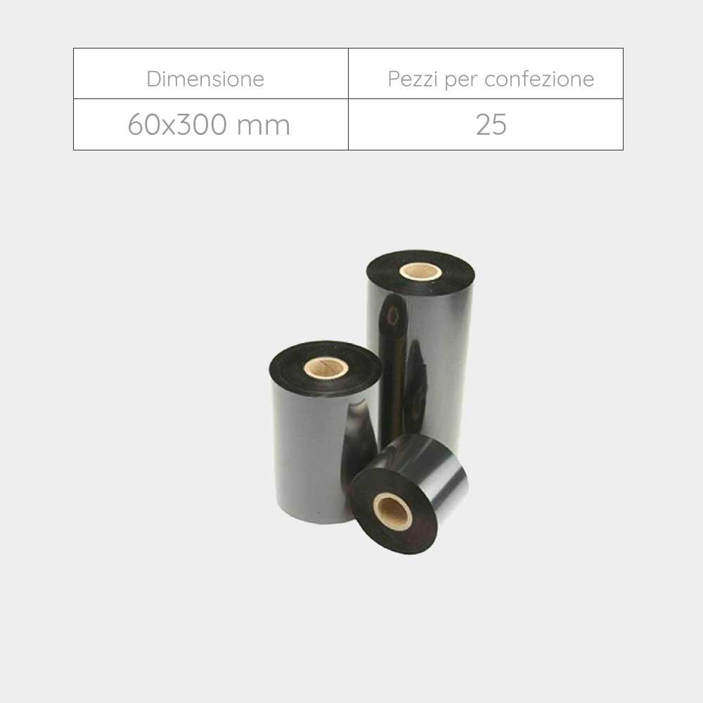 NASTRO 60x300 mm - Confezione 25 pezzi - Inchiostrazione Esterna
