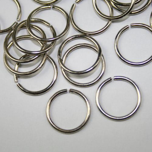 Anello  Ø8 mm nickelato per catene di cristalli, perle e vetri.