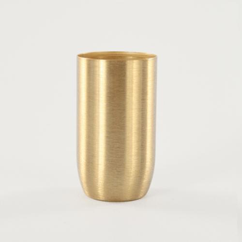 Bicchierino metallico oro spazzolato E14 Ø30 mm foro 10 mm