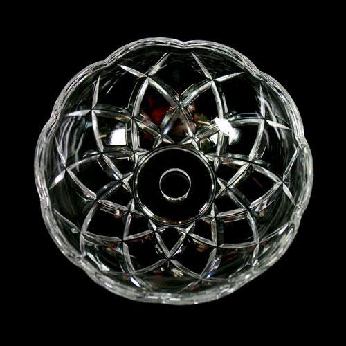 Bobeche lampadari Vetro veneziano Ø 10 cm, foro Ø 12 mm, con 4 fori laterali.