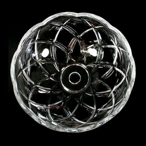 Bobeche lampadari Vetro veneziano Ø 12,5 cm, foro Ø 12 mm, NO fori laterali.