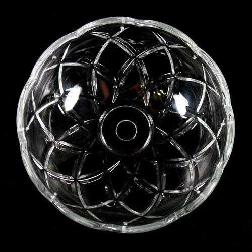 Bobeche lampadari Vetro veneziano Ø 12,5 cm, foro Ø12 mm, con 8 fori laterali.